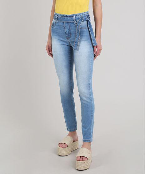 Calca-Jeans-Feminina-Sawary-Cigarrete-Com-Cinto-Azul-Medio-9619272-Azul_Medio_1