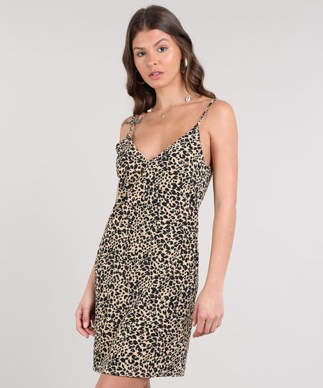 Vestido-Feminino-Curto-Evase-Estampado-Animal-Print-Alcas-Finas-Bege-9514235-Bege_1