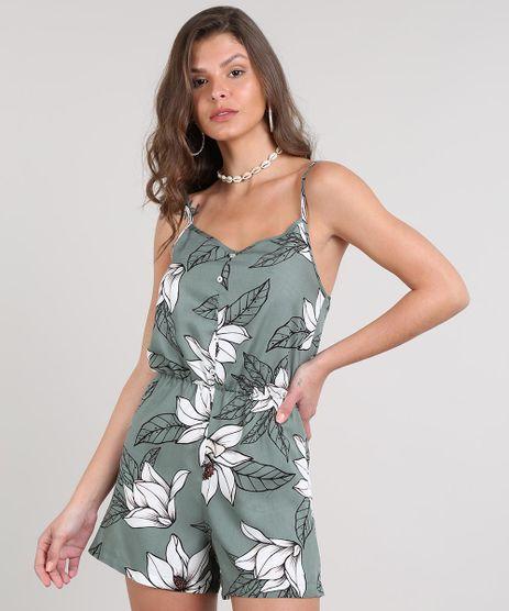 Macaquinho-Feminino-Estampado-Floral-Com-Botoes-Alcas-Finas-Verde-9611064-Verde_1