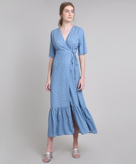 Vestido-Feminino-Mindset-Longo-Envelope-Estampado-de-Poa-Manga-Curta-Azul-Claro-9674890-Azul_Claro_1