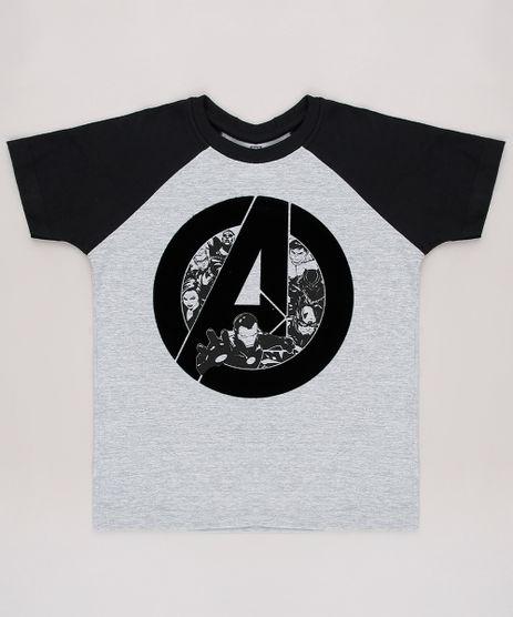 Camiseta-Infantil-Os-Vingadores-Raglan-Manga-Curta--Cinza-Mescla-Claro-9625481-Cinza_Mescla_Claro_1