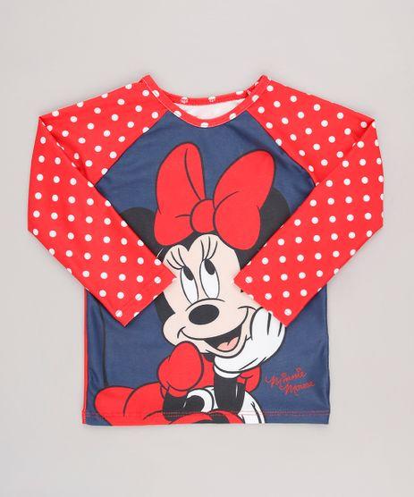 Camiseta-de-Praia-Infantil-Estampada-Minnie-Manga-Longa-Gola-Careca-com-Protecao-UV50--Vermelha-9629273-Vermelho_1