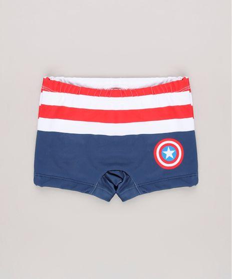 Sunga-Boxer-Infantil-Estampada-Capitao-America-com-Protecao-UV50---Azul-Escuro-9630795-Azul_Escuro_1