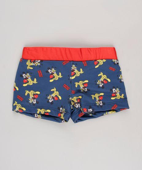 Sunga-Boxer-Infantil-Estampada-Mickey---Pluto-com-Protecao-UV50---Azul-Escuro-9629358-Azul_Escuro_1