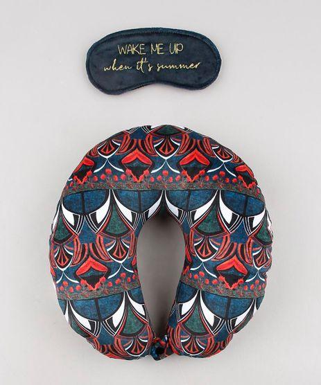 Kit-de-Apoio-de-Pescoco-Estampado-Floral-Geometrico---Tapa-Olho-Azul-Marinho-9642329-Azul_Marinho_1