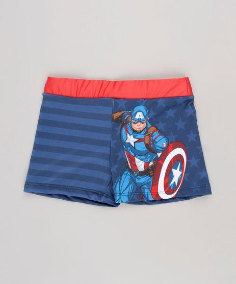 Sunga-Boxer-Infantil-Estampada-Capitao-America-com-Protecao-UV50---Azul-Escuro-9630796-Azul_Escuro_1
