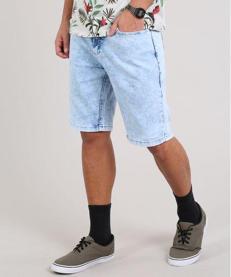 Bermuda-Jeans-Masculina-Slim-Com-Bolsos-Azul-Claro-9594238-Azul_Claro_1