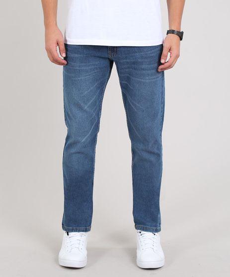 Calca-Jeans-Masculina-Slim-com-Bolsos-Azul-Medio-9634699-Azul_Medio_1