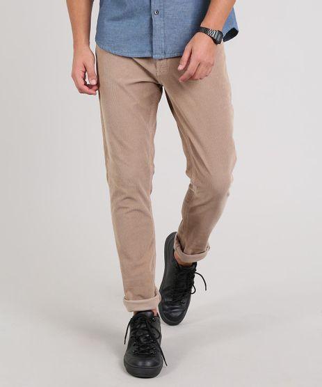Calca-Jeans-Masculina-Skinny-em-Veludo-Cotele-Kaki-9638429-Kaki_1