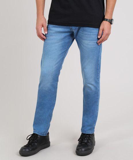 Calca-Jeans-Masculina-Slim-com-Bolsos-Azul-Claro-9607725-Azul_Claro_1