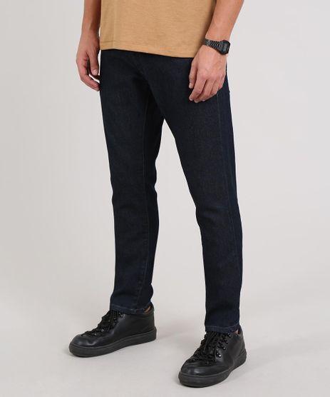 Calca-Jeans-Masculina-Slim-com-Bolsos-Azul-Escuro-9607487-Azul_Escuro_1
