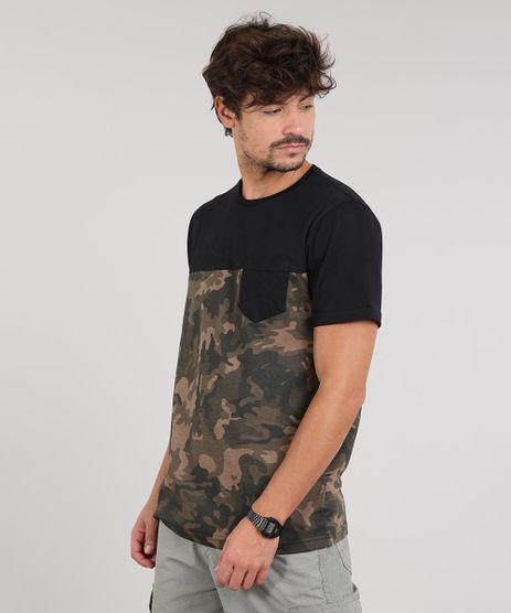 Camiseta-Masculina-Camuflado-Manga-Curta-Gola-Careca-Preta-9607301-Preto_1