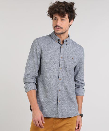 Camisa-Masculina-Com-Bolso-Manga-Longa--Cinza-Mescla-9514522-Cinza_Mescla_1