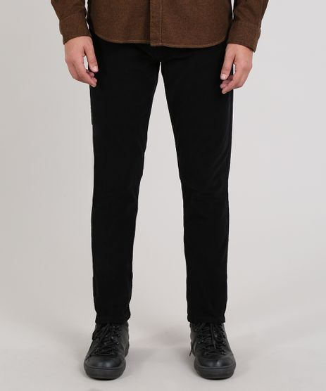 Calca-Jeans-Masculina-Skinny-em-Veludo-Cotele-Preta-9638429-Preto_1