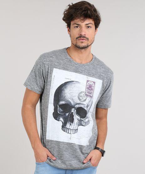 Camiseta-Masculina-Caveira-Manga-Curta-Gola-Careca-Cinza-Mescla-Escuro-9607125-Cinza_Mescla_Escuro_1