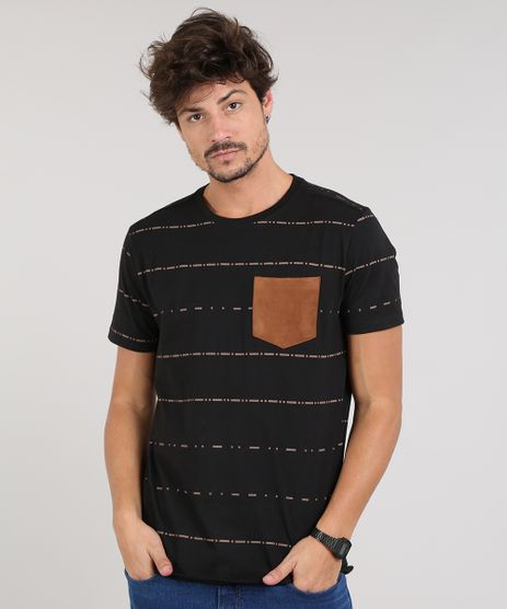Camiseta-Masculina-Estampada-Geometrica-Com-Bolso-Manga-Curta-Gola-Careca-Preta-9609429-Preto_1