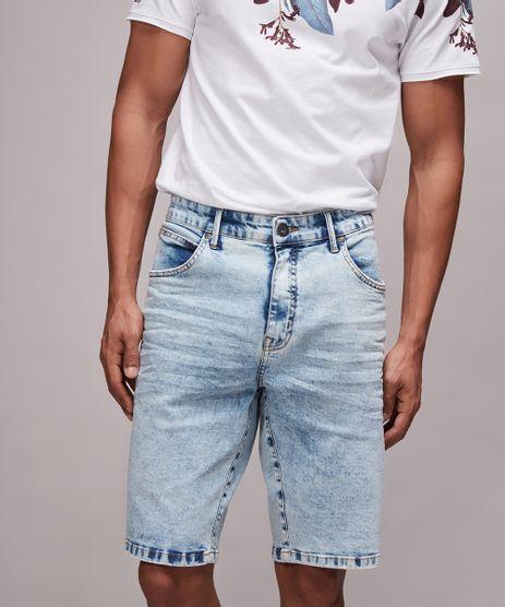 Bermuda-Jeans-Masculina-Slim-Com-Bolsos-Azul-Claro-9607926-Azul_Claro_1