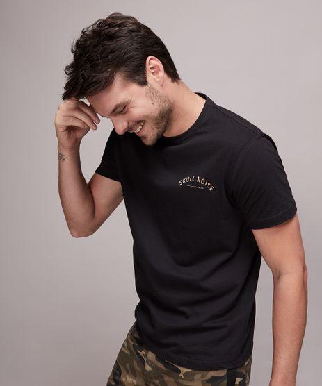 Camiseta-Masculina--Skull-Noise--Manga-Curta-Gola-Careca-Preta-9607123-Preto_1