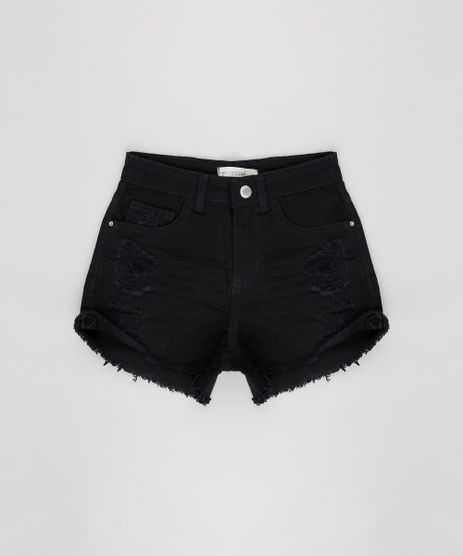 Short-de-Sarja-Infantil-Destroyed-Preto-9624828-Preto_1