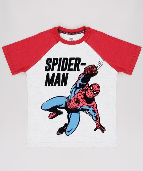 Camiseta-Infantil-Homem-Aranha-Raglan-Manga-Curta--Cinza-Mescla-Claro-9625125-Cinza_Mescla_Claro_1