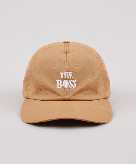 Bone-Masculino-Aba-Curva-com-Bordado--The-Boss---Caramelo-9636636-Caramelo_1