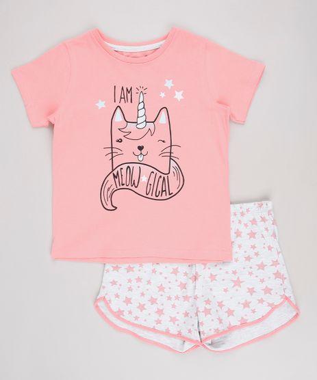 Pijama-Infantil--I-am-Meow-gical--Manga-Curta--Rosa-9629801-Rosa_1