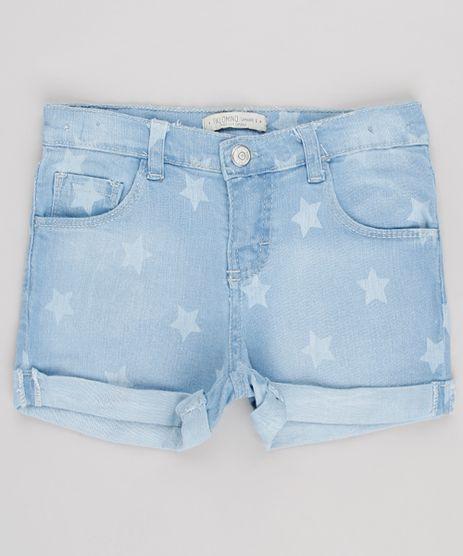 Short-Jeans-Infantil-Estampado-de-Estrelas-com-Bolsos-Barra-Dobrada-Azul-Claro-9615008-Azul_Claro_1