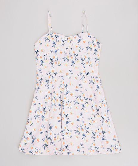 Vestido-Infantil-Estampado-Floral-com-No-Alcas-Finas-Rosa-9514708-Rosa_1