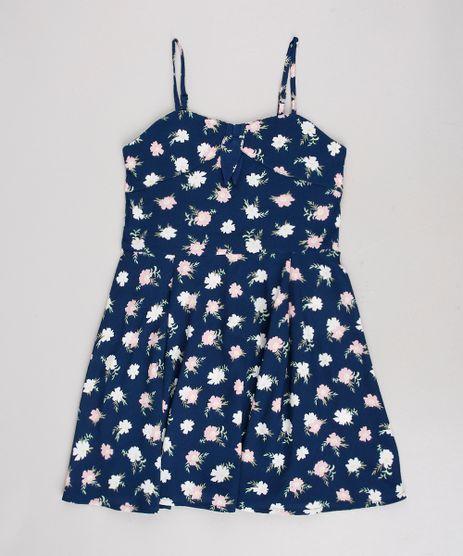 Vestido-Infantil-Estampado-Floral-com-No-Alcas-Finas-Azul-Marinho-9514963-Azul_Marinho_1
