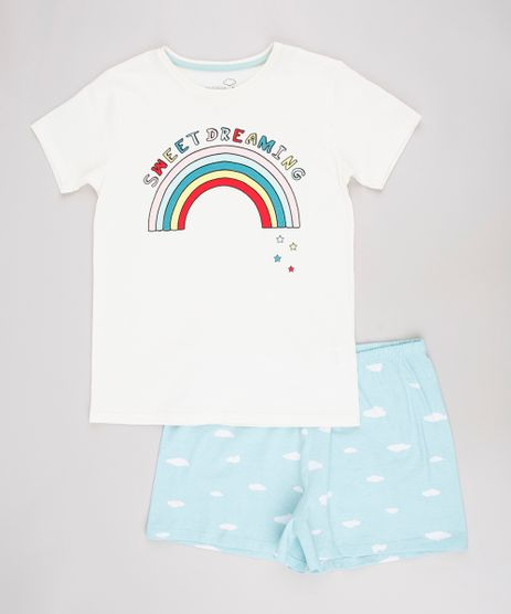 Pijama-Infantil--Sweet-Dreaming--Manga-Curta--Off-White-9629796-Off_White_1