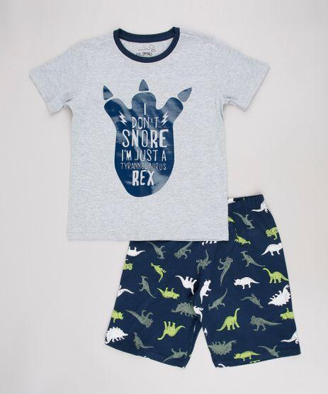 Pijama-Infantil--I-Don-t-Snore----Manga-Curta--Cinza-Mescla-Claro-9629786-Cinza_Mescla_Claro_1