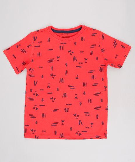 Camiseta-Infantil--Estampada-Tropical-Manga-Curta-Vermelho-9625111-Vermelho_1