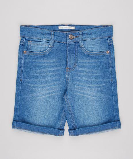 Bermuda-Jeans-Infantil-Com-Barra-Dobrada-Azul-Medio-9655095-Azul_Medio_1