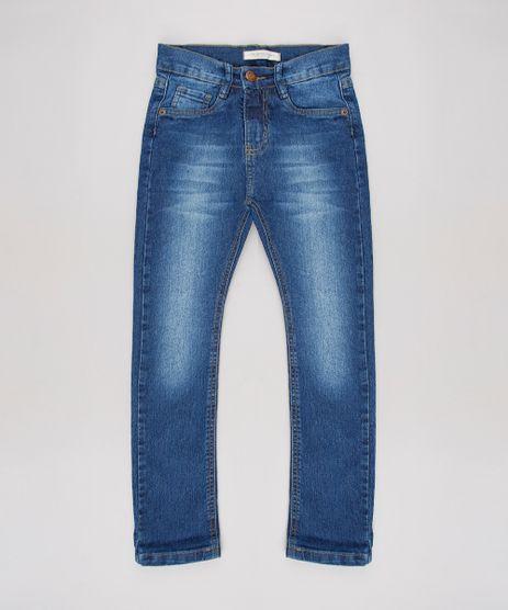 Calca-Jeans-Infantil-Reta-com-Bolsos-Azul-Medio-9640828-Azul_Medio_1