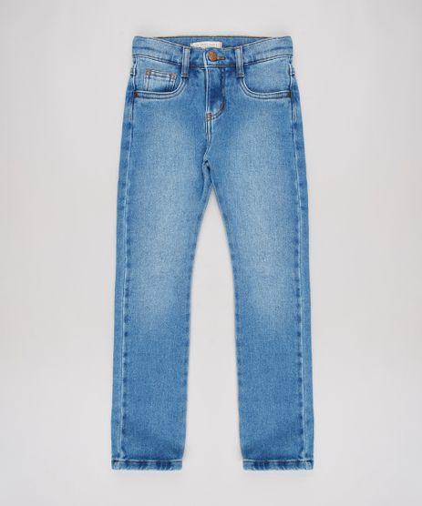 Calca-Jeans-Infantil-Skinny-em-Moletom-com-Bolsos-Azul-Medio-9636924-Azul_Medio_1