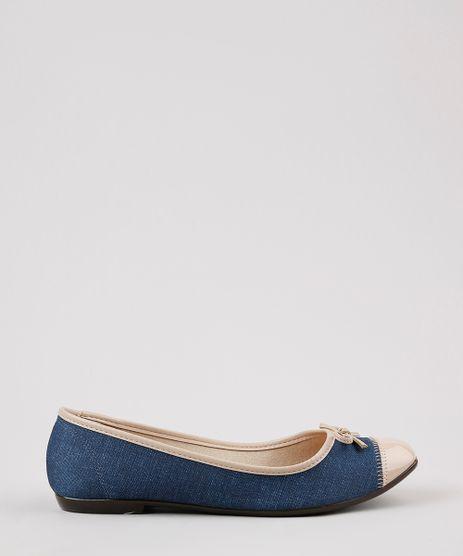 Sapatilha-Jeans-Feminina-Moleca-Bico-Quadrado-com-Recorte-e-Laco-Azul-Medio-9666913-Azul_Medio_1