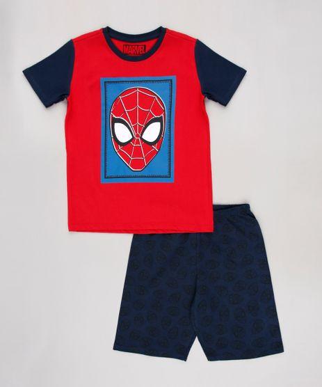Pijama-Infantil-Homem-Aranha-Manga-Curta-Azul-Marinho-9629789-Azul_Marinho_1