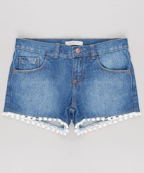 Short-Jeans-Infantil-com-Passamanaria-Azul-Medio-9620381-Azul_Medio_1