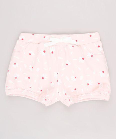 Short-Infantil-Balone-Estampado-Floral-com-Laco-Rosa-Claro-9631451-Rosa_Claro_1