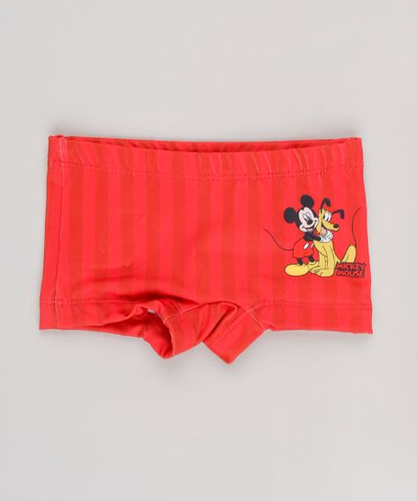 Sunga-Boxer-Infantil-Estampada-Mickey---Pluto-com-Protecao-UV50---Vermelho-9629360-Vermelho_1