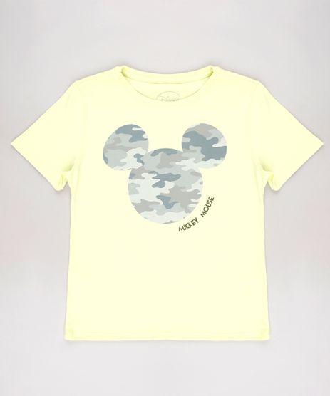 Blusa-Infantil-Mickey-Manga-Curta-Amarela-Neon-9616329-Amarelo_Neon_1