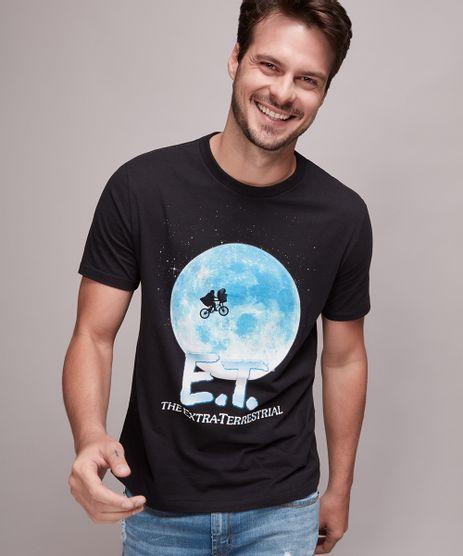 Camiseta-Masculina-E-T--Manga-Curta-Gola-Careca-Preta-9645370-Preto_1
