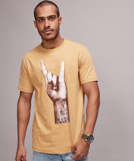 Camiseta-Masculina-Rock-Manga-Curta-Gola-Careca-Mostarda-9670542-Mostarda_1