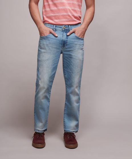 Calca-Jeans-Masculina-Slim-com-Puidos-Jeans-Claro-9633240-Jeans_Claro_1