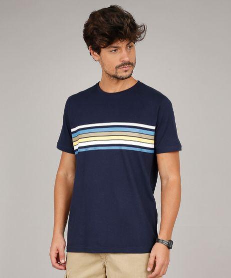 Camiseta-Masculina-com-Listras-Manga-Curta-Gola-Careca-Azul-Marinho-9596747-Azul_Marinho_1