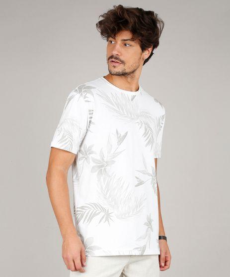 Camiseta-Masculina-Estampada-de-Folhagem-Manga-Curta-Gola-Careca-Off-White-9599025-Off_White_1