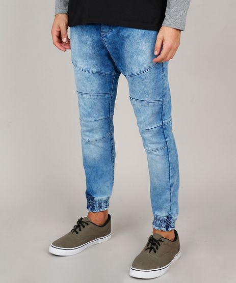 Calca-Jeans-Masculina-Jogger-com-Recortes-Azul-Medio-9614903-Azul_Medio_1