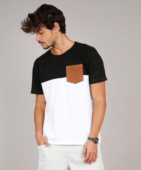 Camiseta-Masculina-com-Recorte-e-Bolso-Manga-Curta-Gola-Careca-Branca-9609428-Branco_1