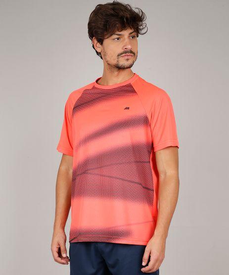 Camiseta-Masculina-Esportiva-Ace-com-Estampa-de-Triangulos-Manga-Curta-Gola-Careca-Coral-9599985-Coral_1