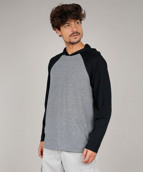 Camiseta-Masculina-Raglan-com-Capuz-e-Bolso-Manga-Longa-Cinza-Mescla-Escuro-9626498-Cinza_Mescla_Escuro_1